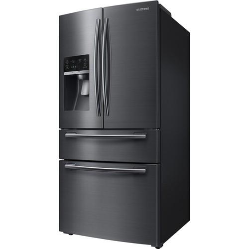 Samsung 33 in. W 24.73 cu. ft. French Door Refrigerator in Black Stainless Steel