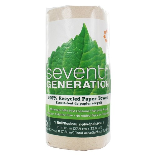 Seventh Generation - Paper Towels 100% Recycled Brown 2-Ply Jumbo Roll - 120 Sheet(s)