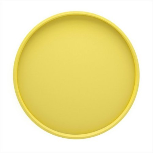 Kraftware 14 in. Round Serving Tray in Lemon