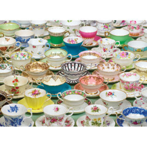 Cobble Hill Teacups 1000 Piece Jigsaw Puzzle