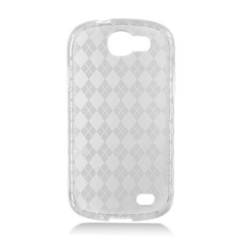 Insten Transparent Frosted TPU Rubber Candy Skin Case Back Cover For Samsung Galaxy Express SGH-i437 - Clear