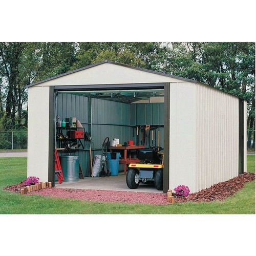 Arrow Vinyl Utility Storage Building  12ft. x 24ft., Model# VT1224
