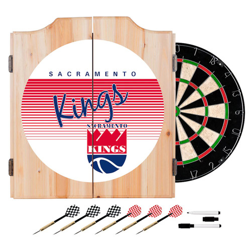 Sacramento Kings Hardwood Classics Wood Dart Cabinet Set