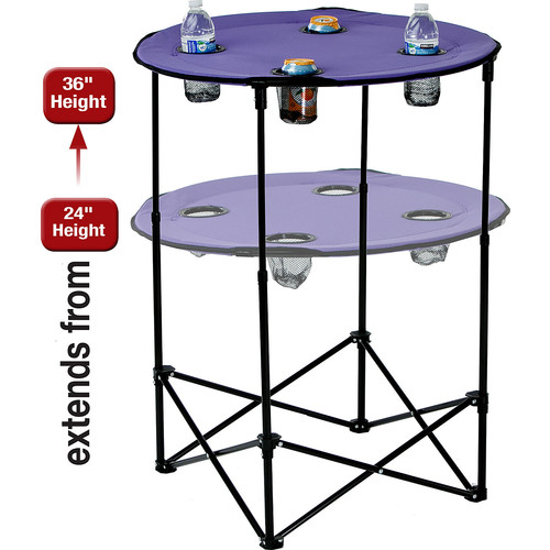 Picnic Plus by Spectrum Scrimmage Tailgate Table; Purple