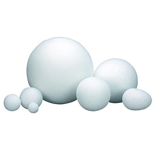 Hygloss Products White Styrofoam Balls for Arts and Crafts  6 Inch, 6 Pack [6 inch]