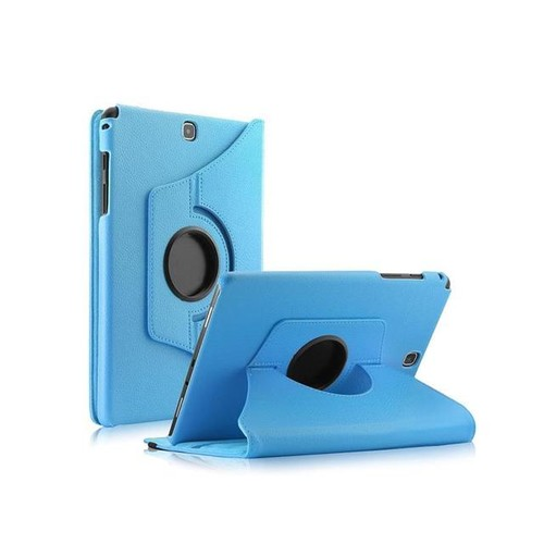 TinkSky PU Leather 360 Rotating Stand Case Cover for Samsung Galaxy Tab A 8-Inch SM-T350 Tablet Only (Sky Blue)