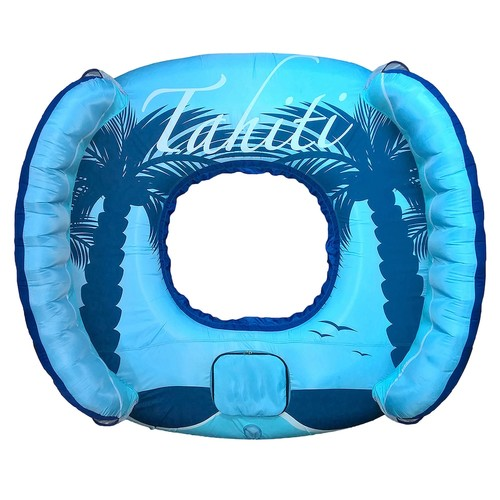 Blue Wave Drift + Escape 4-Person Inflatable Pool Float