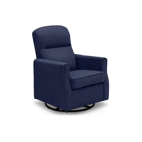 Delta Children Clair Nursery Glider Swivel Rocker Chair - Navy