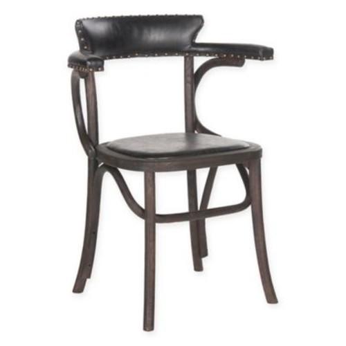 Safavieh Kenny Arm Chair in Antique Black