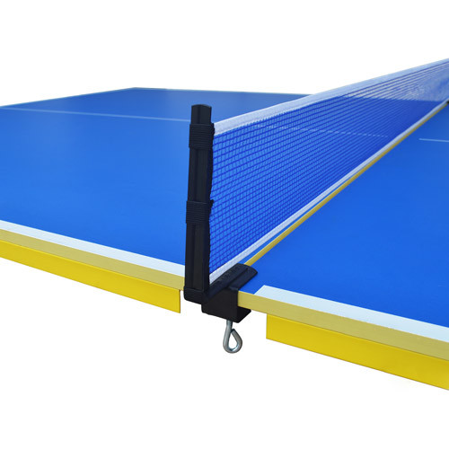 Hathaway Bounce Back Table Tennis - Regulation-Sized 9x5 Blue Table with Folding Halves for Individual Play - Includes Net, Paddles, Balls