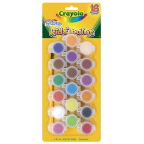 Crayola 18 Count Assorted Colors Washable Kid's Paint