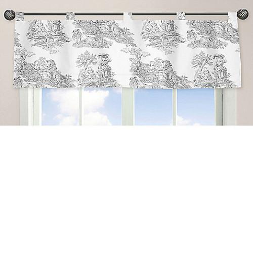 Sweet Jojo Designs French Toile Window Valance in Black/Cream