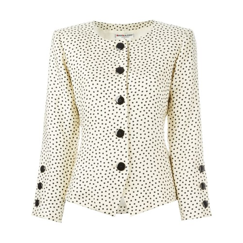 YVES SAINT LAURENT VINTAGE Dot Print Jacket