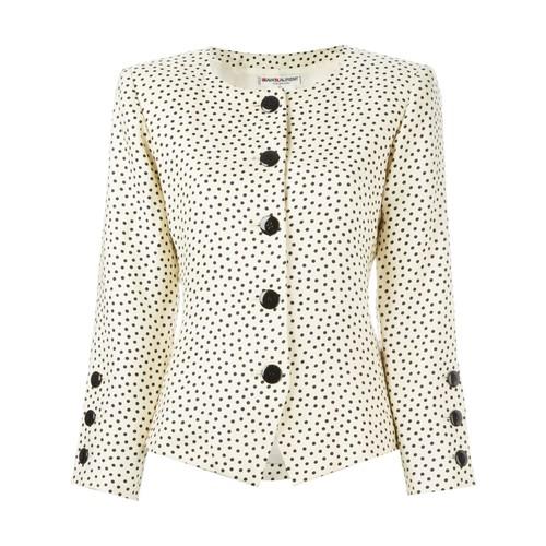 YVES SAINT LAURENT VINTAGE Dot Print Jacket