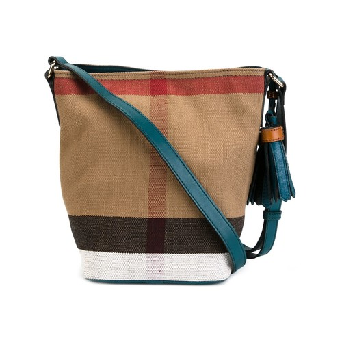 BURBERRY Check Canvas Crossbody Bag