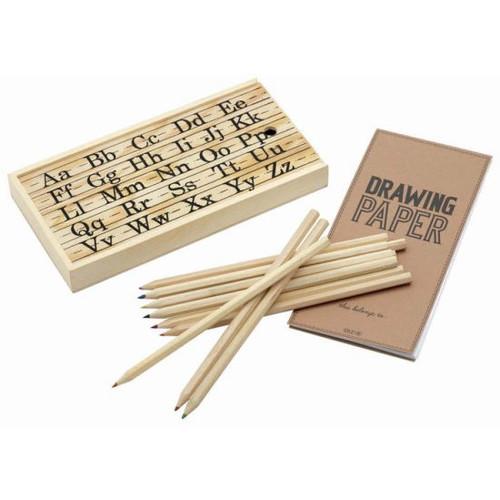 Vintage Alphabet Wooden Craft Box