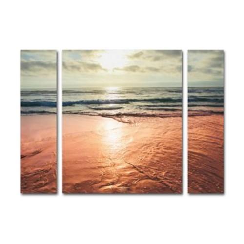 Trademark Fine Art ''Sunset Beach Reflections'' by Ariane Moshayedi 24