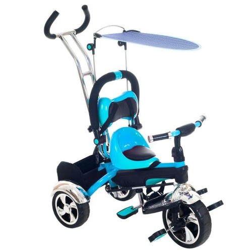 Lil Rider 2 in 1 Stroller Tricycle - Child Safe Trike Trainer - Blue