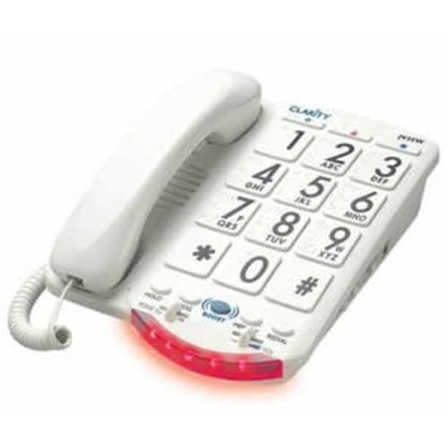 Amplified Big Button Phone White Keys (Catalog Category: Special Needs Products / Corded)
