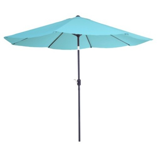 Pure Garden 10 ft. Aluminum Patio Umbrella with Auto Tilt in Blue