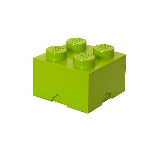 LEGO Storage Brick 4 - Light Yellow Green