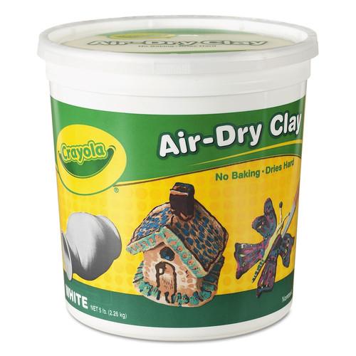 Crayola CYO575055 Air-Dry Clay, White, 5 lbs