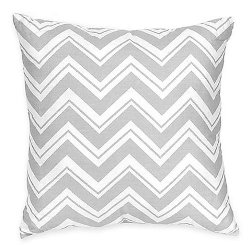 Sweet Jojo Designs Zigzag Reversible Throw Pillow in Pink/Grey