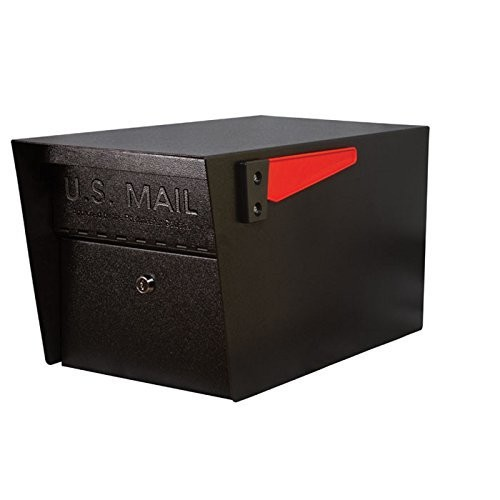 Mail Boss 7506 Mail Manager Locking Security Mailbox, Black [Black]