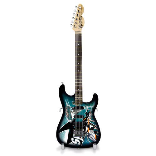 San Jose Sharks Collector Series Mini Replica Electric Guitar