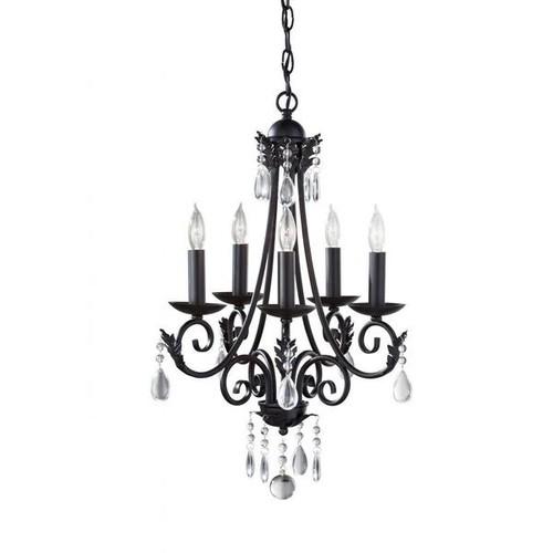 FEISS HOME SOLUTIONS Ceiling Lights Nadia 5-light Black Chandelier