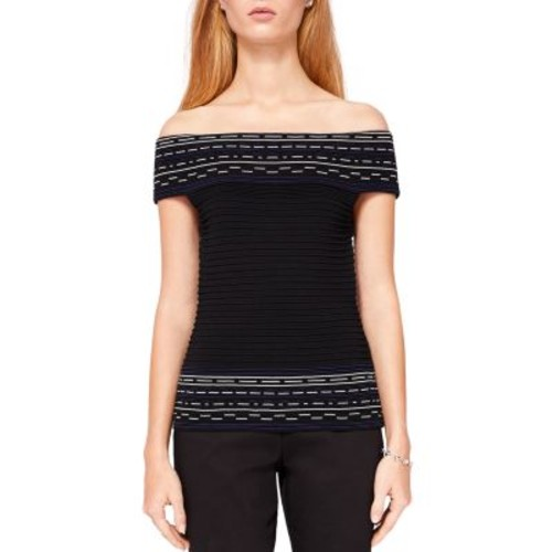 TED BAKER Hanyie Off-The-Shoulder Ribbed Knit Top