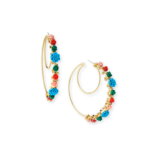 Pillar Statement Hoop Earrings