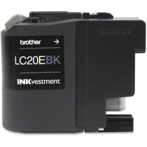 Brother LC20EBK Brother LC-20EBK Ink Cartridge - Black - Inkjet - Super High Yield - 2400 Page - OEM