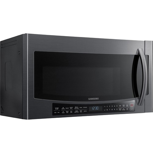 Samsung - 1.7 Cu. Ft. Over-the-Range Microwave - Black Stainless Steel