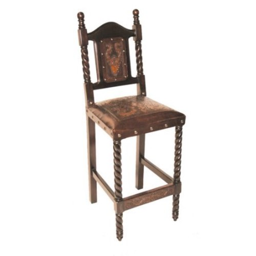 Colonial Solomon Bar Stool (Antique Brown)