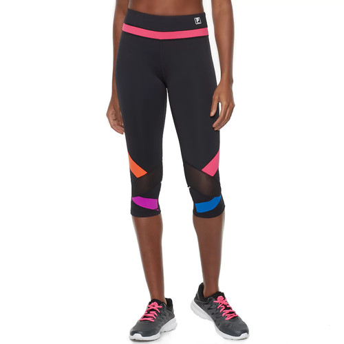 Women's FILA SPORT Mesh Color Block Capri Leggings