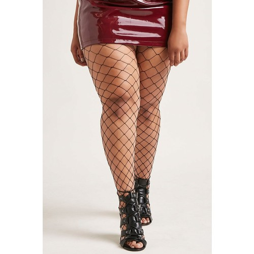 Plus Size Lace Short Pantyhose