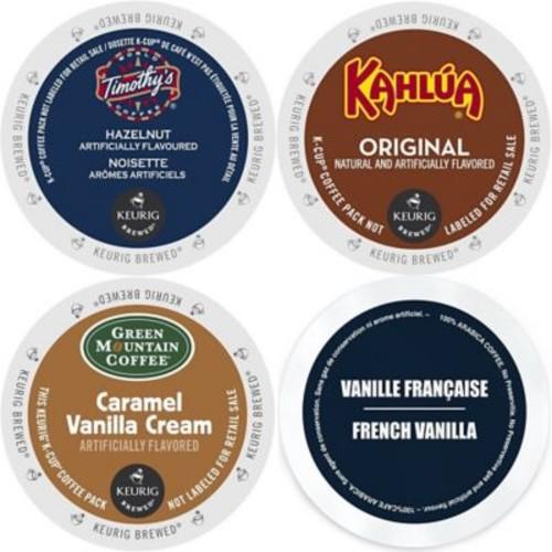 K-Cup Flavored Coffee Variety Pack, 96 Count Flavored Keurig 2.0 K Cup Sampler, 96 Count (GMT9004-CP4)