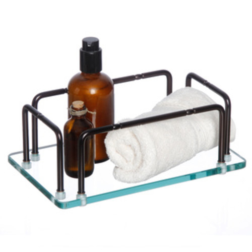 Mirrored Oil Rubbed Bronze Finish Towel Tray
