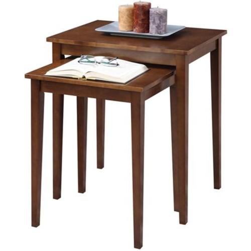 American Heritage Nesting End Tables - Espresso (Medium) - Convenience Concepts
