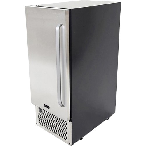 Whynter - Whynter UIM-502SS Stainless Steel Built-In Ice Maker - stainless steel door and black cabinet
