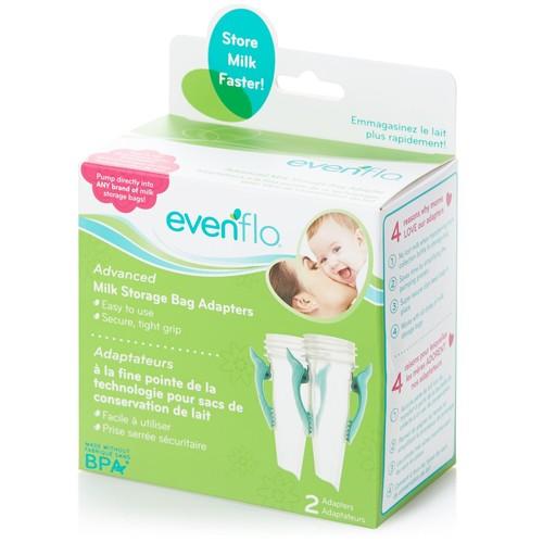 Evenflo 2-Pack Advanced Milk Storage Bag Adapters