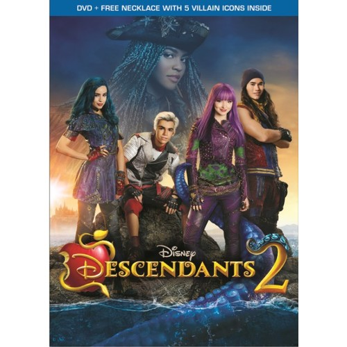 Disney Descendants 2 DVD with Bonus Necklace with 5 Villain Icons