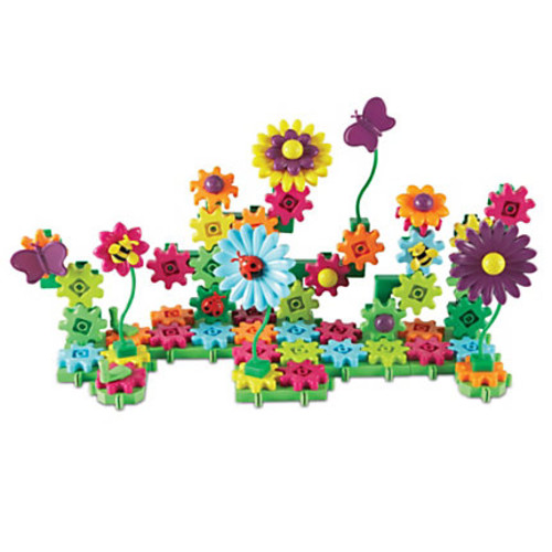 Learning Resources Gears! Gears! Gears! Build & Bloom Building Set, Assorted Colors, Pre-K To Grade 2
