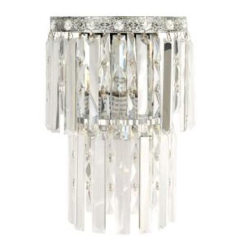 Dale Tiffany 2-Light Allen Polished Chrome Sconce