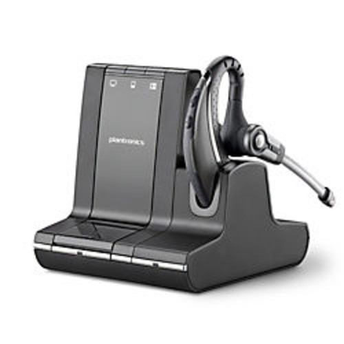 Plantronics Savi 730-M Wireless Headset System, Black/Silver