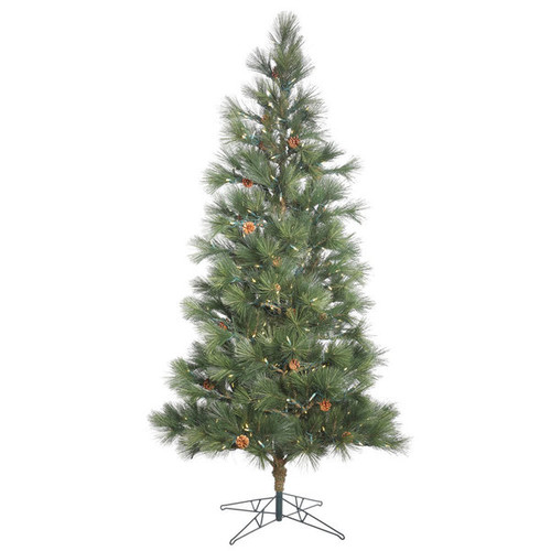 Vickerman Green Plastic 9-foot Redmond Spruce Artificial Christmas Tree with 600 Warm White LED Lights - Spruce