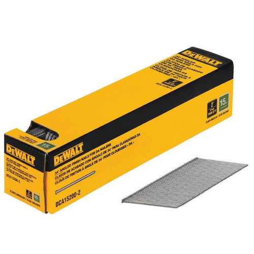 DEWALT 2 in. x 15-Gauge Angled Finish Nails (2500-Pieces)