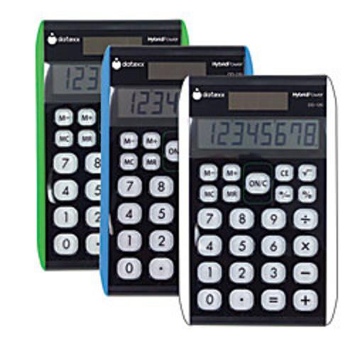 Datexx DD-120 Desktop Calculator, Assorted Colors