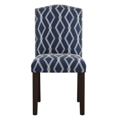 Varick Gallery Newberry Nail Button Arched Crossweave Side Chair